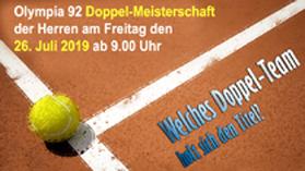 Tennismeisterschaft im Herren – Doppel und Sommerfest